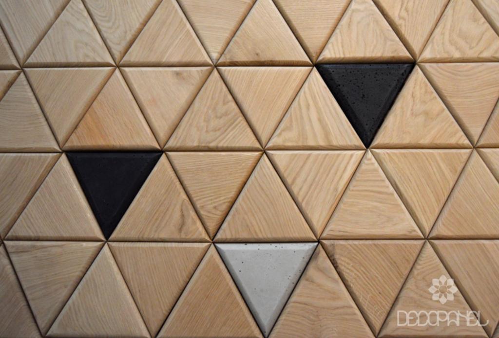 Trójkąty Drewno Beton Inspiracje Decopanel